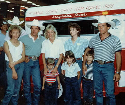 Jenifer, George, & Norma Strait; Denise & Buddy Strait & Kids . 1986